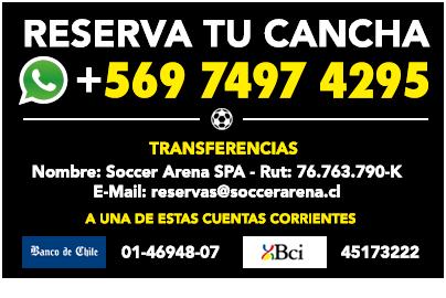Reserva tu Cancha: (+56 9) 7497 4295